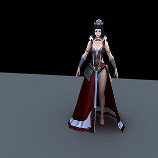 游戏美女角色3d模型