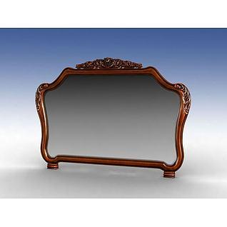 美式镜子3d模型