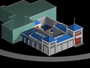名宅庭院3d模型