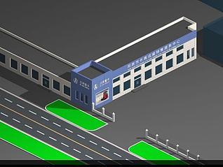 汽车4S店3d模型