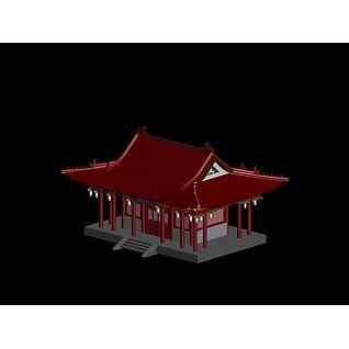 古建筑小宫殿3d模型