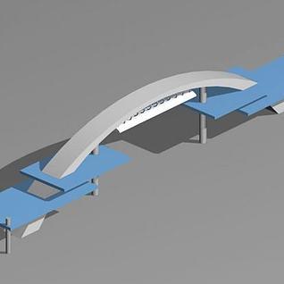 大门设计3d模型