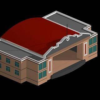 戏台3d模型