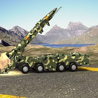 导弹发射动画3d模型