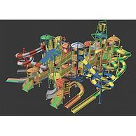 水上滑梯3D模型3d模型