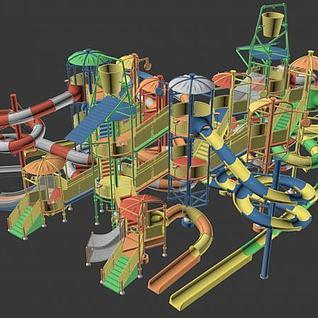 水上滑梯3d模型