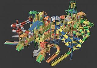 水上滑梯模型3d模型