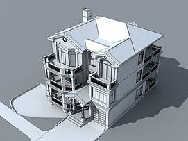 简欧别墅3d模型