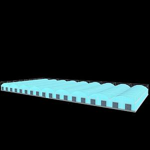 圆拱连栋温室3d模型