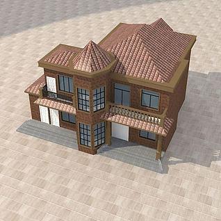 独栋别墅3d模型
