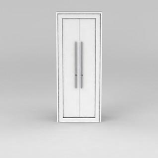 白色双开门3d模型