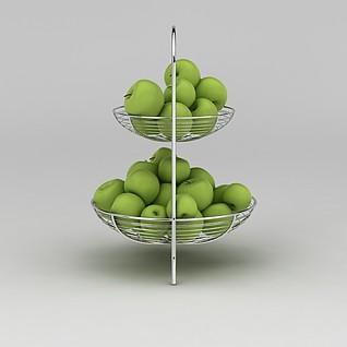 青苹果果篮3d模型3d模型