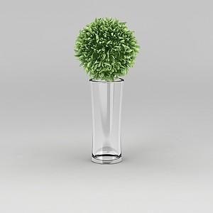 玻璃杯花模型3d模型