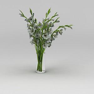 3d鮮花<font class='myIsRed'>花瓶</font>模型