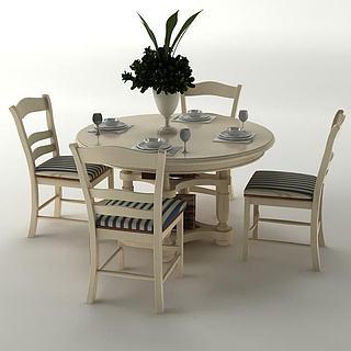 家用餐桌<font class='myIsRed'>餐椅</font>3d模型