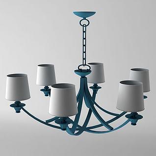 地中海风格吊灯3d模型