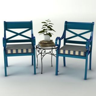 地中海休闲椅3d模型