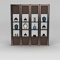 书房置物架3D模型3d模型