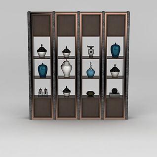 书房置物架3d模型
