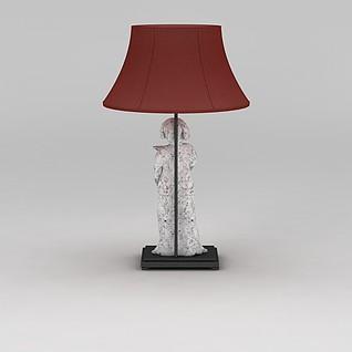 中式台灯3d模型
