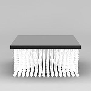 方形水晶灯模型