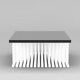 方形水晶灯3d模型