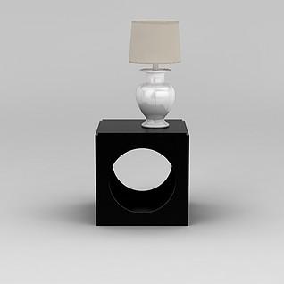 边几台灯组合3d模型