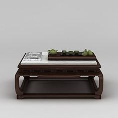实木茶几3D模型3d模型