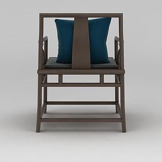 中式椅子3d模型