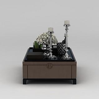 客厅茶几3d模型