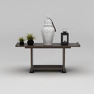 中式玄关桌3d模型