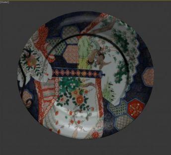 彩色装饰盘子