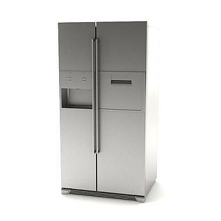 双开门冰箱3d模型