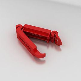 安全座椅的红色夹模型