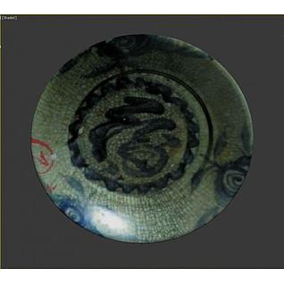 中式陶瓷碗3d模型