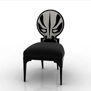 脸谱单人椅3d模型