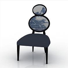 中式单人椅3D模型3d模型