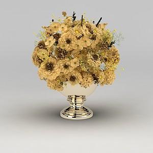 室內裝飾花卉擺件模型