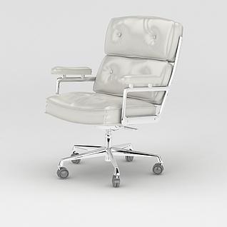 办公转椅3d模型