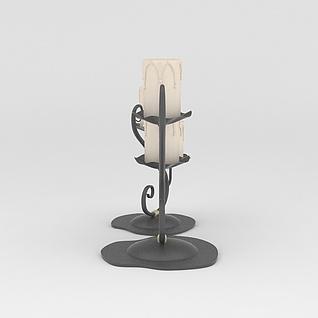 艺术烛台3d模型