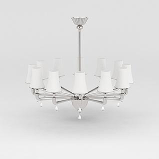 高档吊灯3d模型
