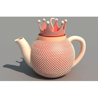 皇冠茶壶3d模型