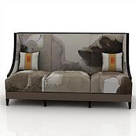 三人沙发3D模型3d模型
