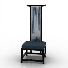 中式高背单人椅3D模型3d模型