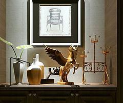 飞马雕塑艺术摆件组合模型3d模型