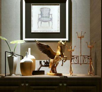 飞马雕塑艺术摆件组合