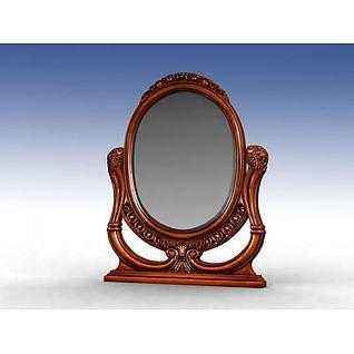 美式梳妆镜3d模型
