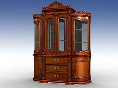 美式古典酒柜模型3d模型