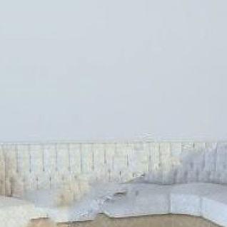 弧形沙发3d模型
