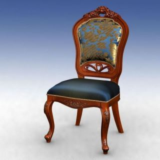 美式高背<font class='myIsRed'>餐椅</font>3d模型